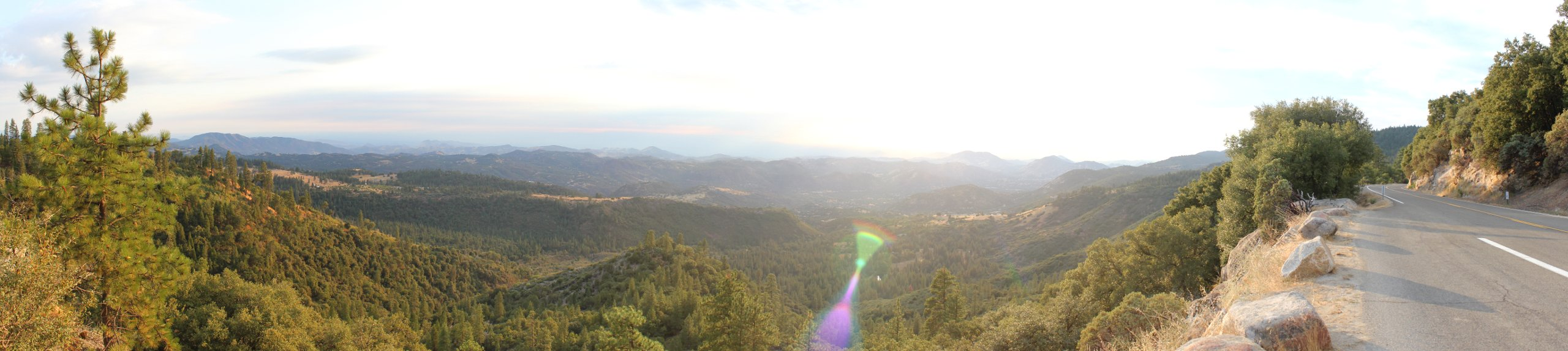 Panoramic View near the Generals Highway near the Sequoia